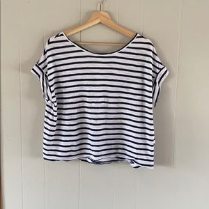 Banana Republic oversized striped boxy top xs